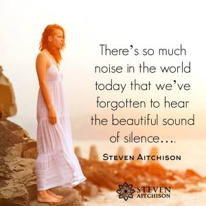Allowing myself the Gift of Silence today.